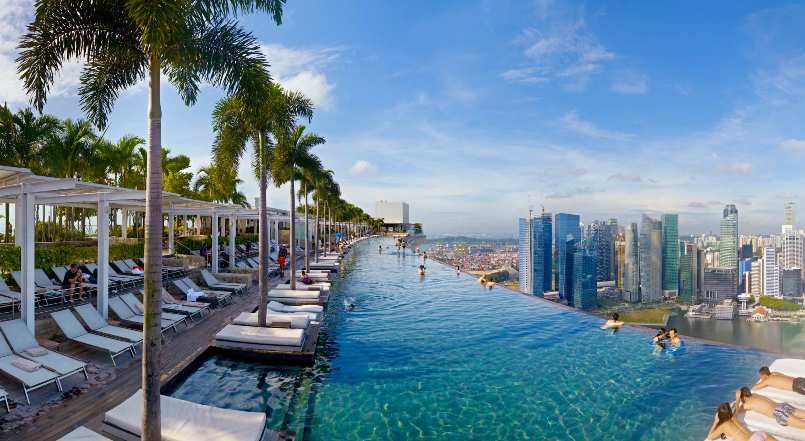 Marina Bay pool